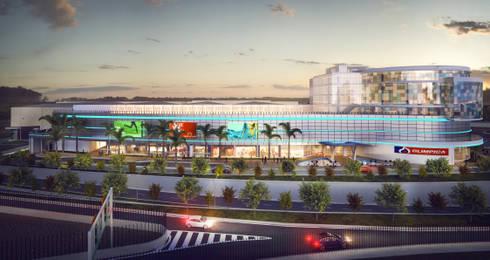 Centro Comercial SierraFlor: Casas de estilo moderno por Arquitectura y Diseño Digital