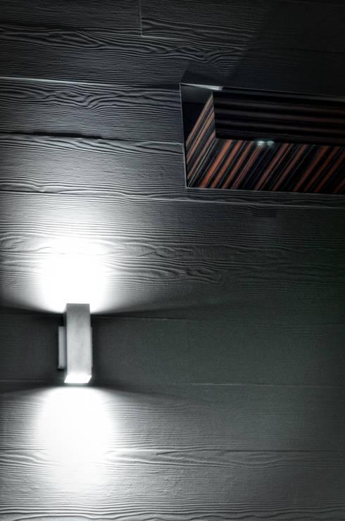 detalle cafe: Paredes y pisos de estilo moderno por ArqCubo