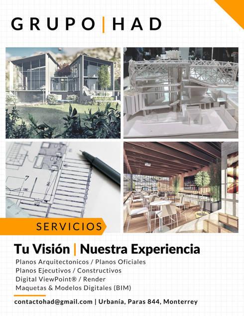 Grupo HAD | Servicios | Arquitectura & Construcción:  de estilo  por Grupo HAD
