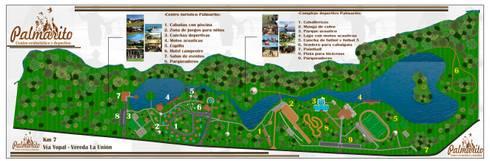 Fundo Palmarito: Jardines de estilo rural por ARQUITECTO JUAN ANDRES GUTIERREZ PEREZ