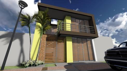 Casa Flor Amarillo: Casas de estilo minimalista por ARQUITECTO JUAN ANDRES GUTIERREZ PEREZ