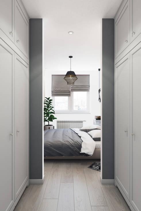Квартира в скандинавском стиле: Спальни в . Автор – Дарья Баранович Дизайн Интерьера