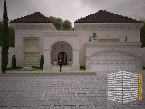 Casa con techo a 4 aguas de hhrg arquitectos homify for Catedrales para techos de casas