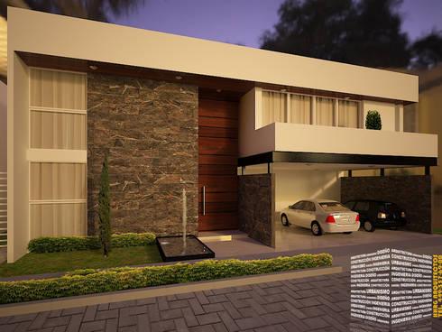 Casa con acceso a doble altura de hhrg arquitectos homify for Casa moderno kl
