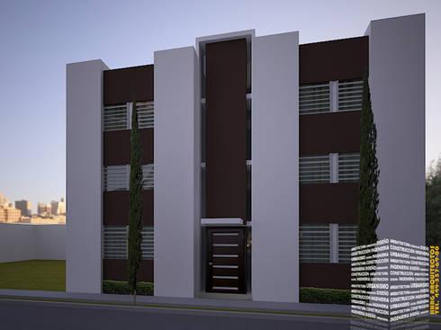 DEPARTAMENTOS: Casas de estilo moderno por HHRG ARQUITECTOS