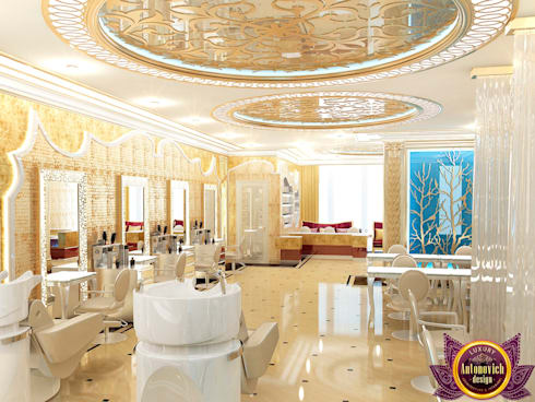 Beauty salon Design of Katrina Antonovich: eclectic Spa by Luxury Antonovich Design