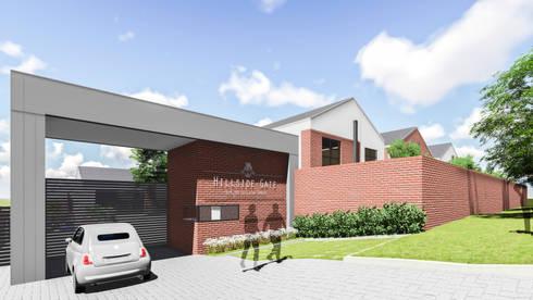 Hillside Gate: modern Houses by Swart & Associates Architects