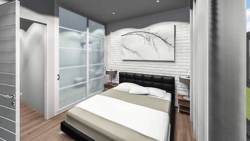 Hillside Gate: modern Bedroom by Swart & Associates Architects