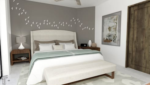 modern Bedroom by TAMEN arquitectura