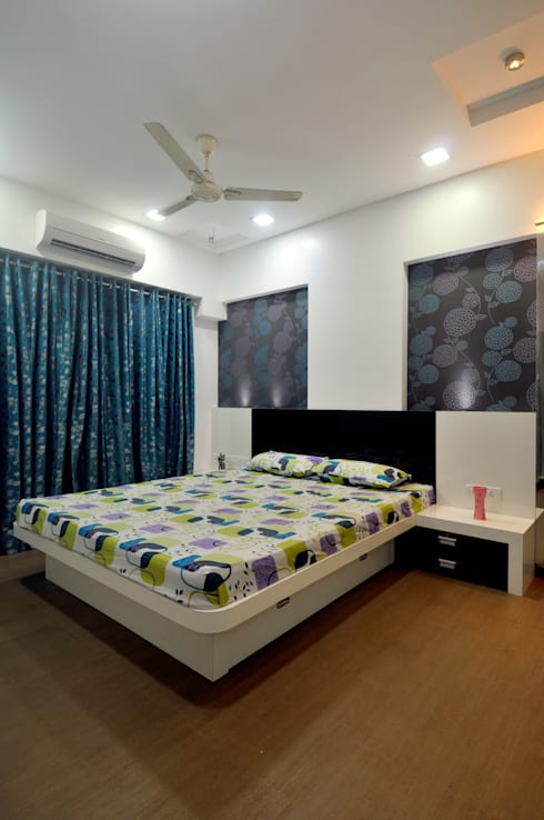 Home Interior: minimalistic Bedroom by sudin patil architects
