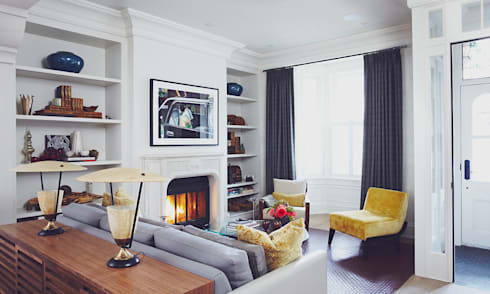 Victorian Modern: classic Living room by Douglas Design Studio