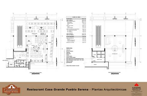 Plantas Arquitectonicas: Centros de exhibiciones de estilo  por ALBUERNE ARQUITECTOS
