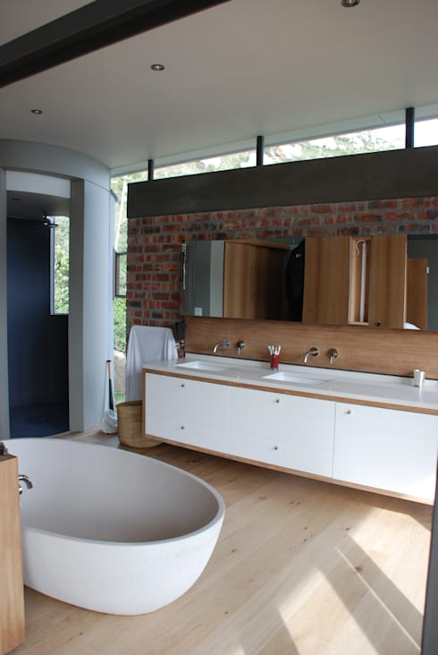 New Private Home in Llandudno: modern Bathroom by Gallagher Lourens Architects