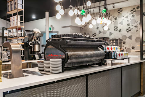Counter detail:  Bars & clubs by Alice D'Andrea Design