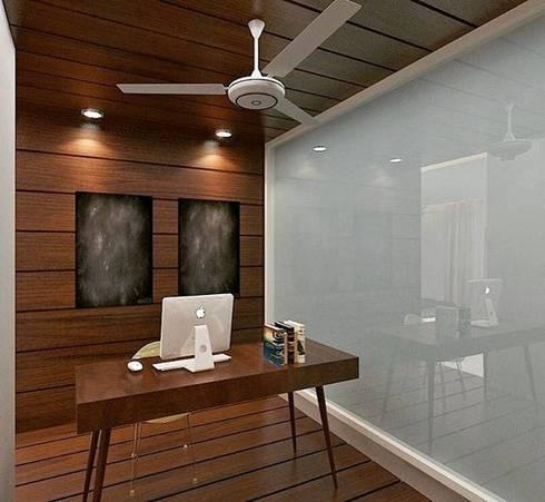 Residence in Mianwali, New Delhi: modern Study/office by Farben Corner