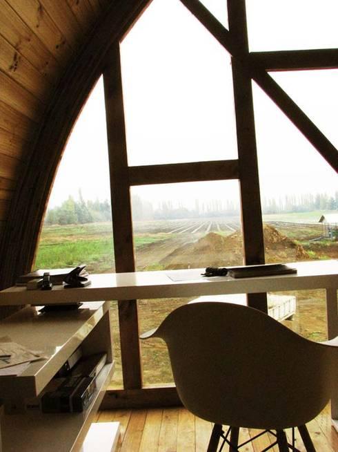 Projekty,  Domowe biuro i gabinet zaprojektowane przez Estudio Terra Arquitectura & Patrimonio