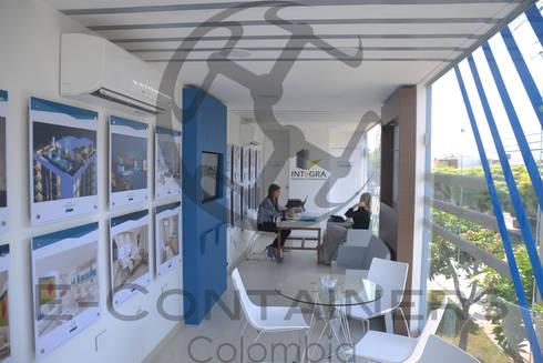 Sala de ventas Acqua: Salas de estilo moderno por E-Containers Colombia
