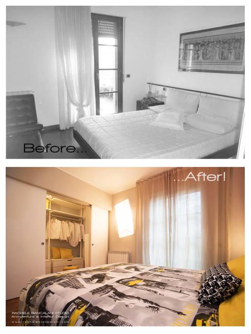 La camera da letto: prima e dopo:  in stile  di Rachele Biancalani Studio