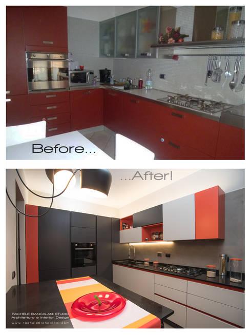 Prima e Dopo in cucina: resina e colore:  in stile  di Rachele Biancalani Studio