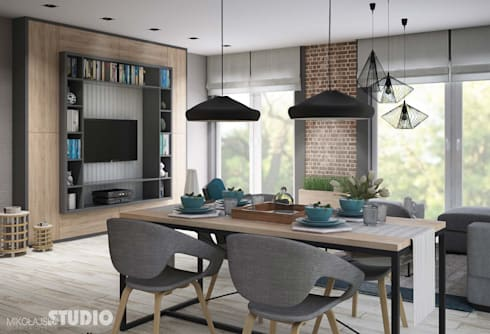industrial dining room by mikolajskastudio - Loft Stil