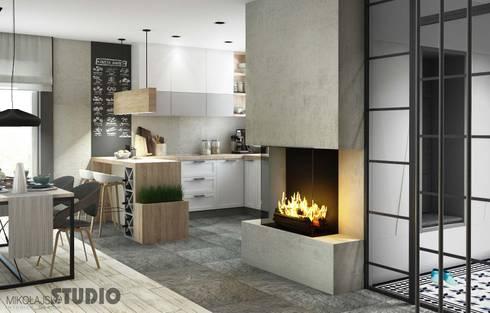 industrial living room by mikolajskastudio - Loft Stil