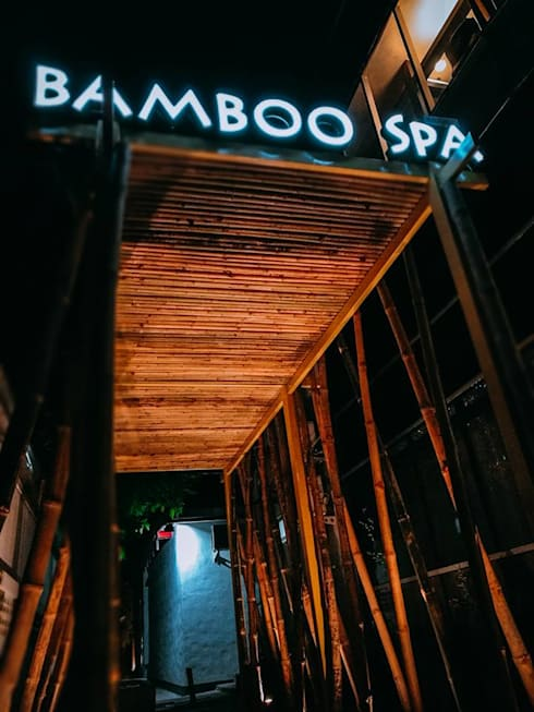 Bamboo spa and little dimsum:  Commercial Spaces by  good space  plus interiror- architect co.,ltd