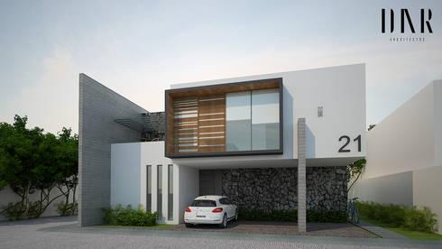 Perspectiva exterior: Casas de estilo minimalista por DAR Arquitectos