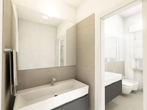 Ristrutturazione appartamento anni 39 50 su due piani di - Bagno e antibagno ...