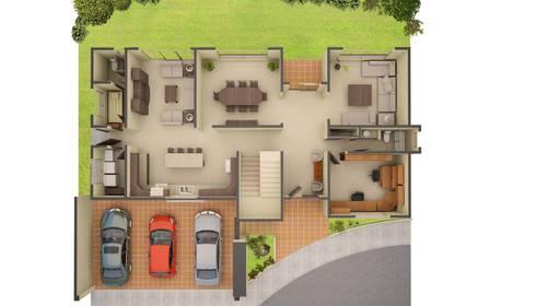 Casa Caliza:  de estilo  por nuk arquitech