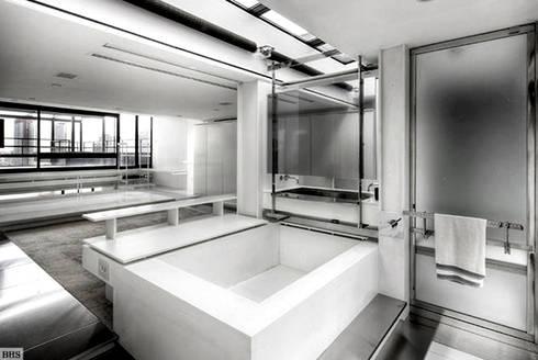 Bathroom - Historic Preservation - Paul Rudolph Estate: modern Bathroom by Joe Ginsberg