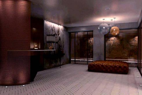 Entryway - Spa Design:  Hotels by Joe Ginsberg