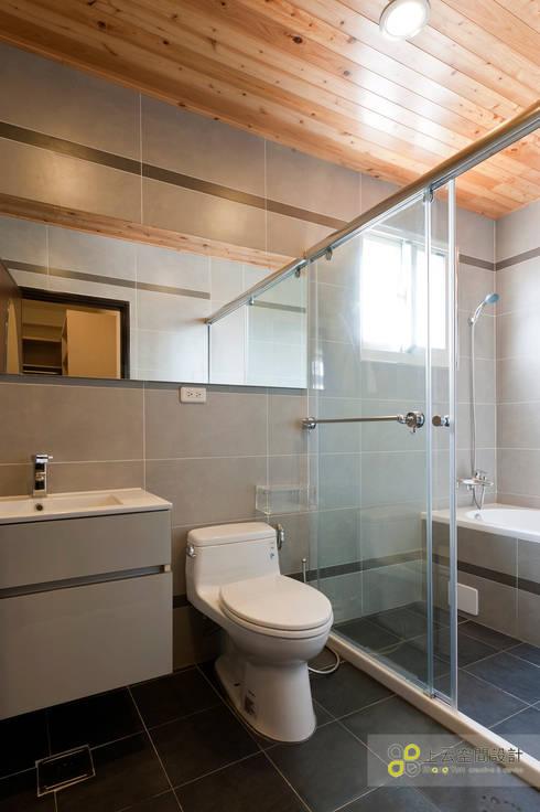 宜蘭3層透天北歐宅2:  浴室 by 上云空間設計