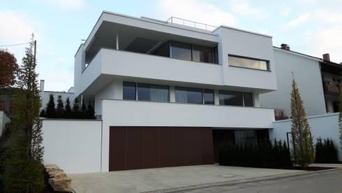 Hanghaus Mit Garage haus am hang mit blick auf die ostalb par diemer architekten | homify