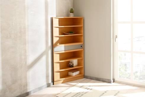 Ecce Eckmöbel Wandregal: moderne Wohnzimmer von noook
