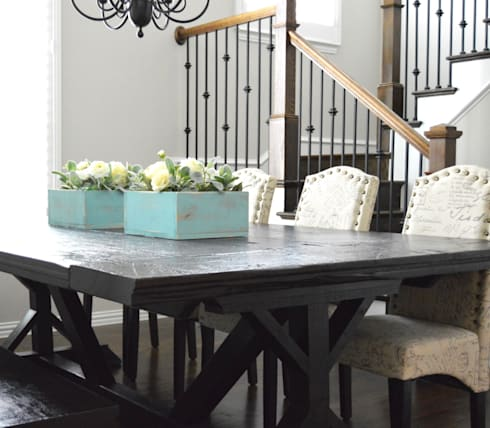 Sophisticated Country Home: country Dining room by Brett Nicole Interiors