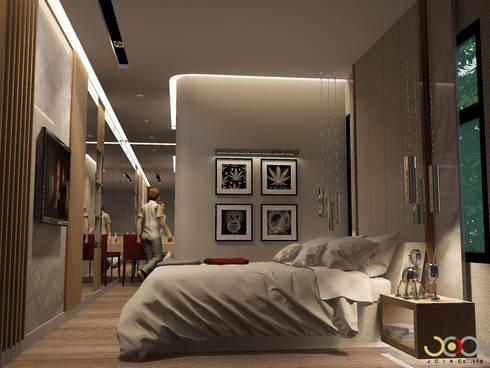 บ้านพักอาศัยสามชั้น ม.สัมมากร:  ห้องนอน by jcia co.,ltd