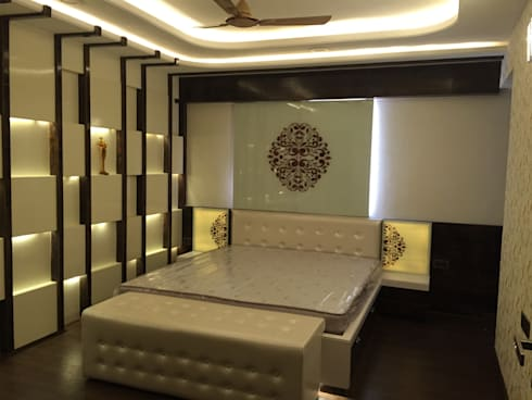 MR. NANDESH KATTA'S RESIDENCE: modern Bedroom by cosmos collection
