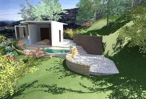 Coto Selva : Jardines de estilo moderno por Lobato Arquitectura