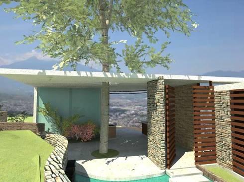 Coto Selva : Casas de estilo moderno por Lobato Arquitectura