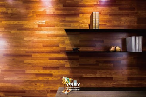 潺禪。垂影 - 現代隱禪:  書房/辦公室 by 有容藝室內裝修設計有限公司
