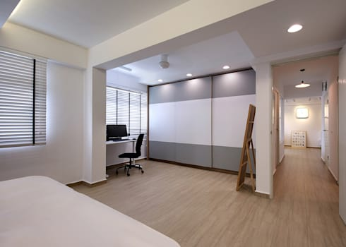 HDB Blk 429A Yishun: scandinavian Bedroom by Renozone Interior design house
