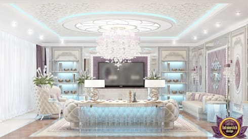   Colorful interiors of Katrina Antonovich: eclectic Living room by Luxury Antonovich Design