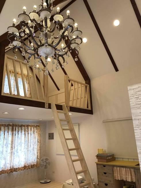 country Living room by 現代建材有限公司