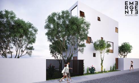 FACHADA : Casas de estilo minimalista por EMERGENTE   Arquitectura
