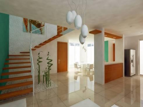 SALA: Salas de estilo minimalista por DLR ARQUITECTURA/ DLR DISEÑO EN MADERA