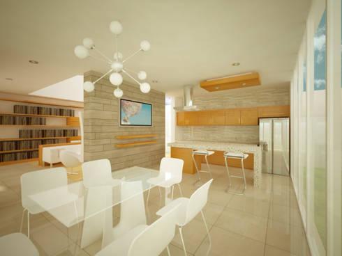 COCINA/COMEDOR: Cocinas de estilo minimalista por DLR ARQUITECTURA/ DLR DISEÑO EN MADERA