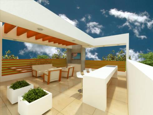 ROOF GARDEN: Terrazas de estilo  por DLR ARQUITECTURA/ DLR DISEÑO EN MADERA
