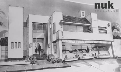 Propuesta fachada principal:  de estilo  por nuk arquitech