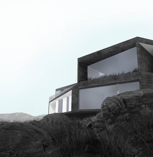 Vivienda Martin: Casas de estilo mediterraneo por Superficie Arquitectura