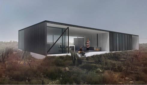 Vivienda Guerrero: Casas de estilo moderno por Superficie Arquitectura